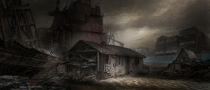 Commission: Ramshackle by The Beach by VincentiusMatthew