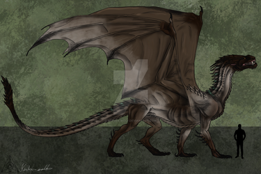 Northern tundra dragon by Kerber-wolf