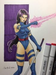 Psylocke by amonkeyonacid