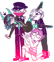 The squad drawing meme by Thasase1002