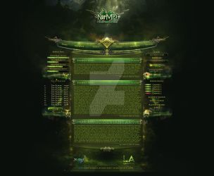 NarMt2 - Fantasy smoke webdesign project. by LA-Graphic