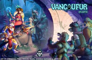 VancouFur 2016 - Conbook Cover by Temrin