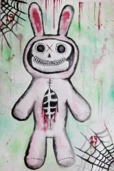 skeletal easter bunny by halloweenkid