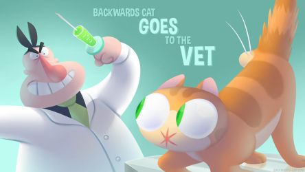 Backwards Cat Goes to the Vet by Versiris