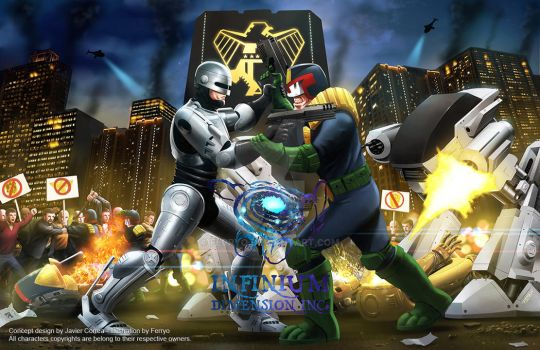 Robocop VS Dredd by ferryo