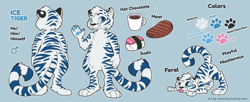 Ice Tiger [reference sheet] by Smallblacksticky
