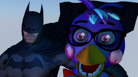 (FNAF?) Lily and Batman!!!! =0 by LilyC4Dpn