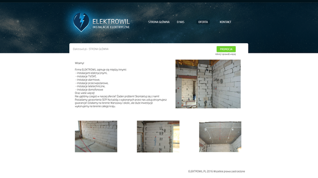 Electrical installations company webpage version 2 by miguslaw
