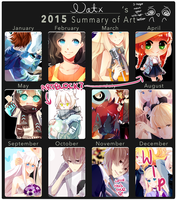 2015 Summary of Art by Natx-chan