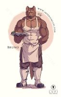 Imperium Lupi - Bruno the Fry-cook (colour) by Imperiumlupi