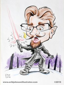The hazards of a lightsaber on your mustache by IllustratorErik