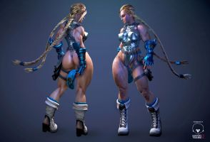 streetfighter cammy  battlesuit white.ver by ruyueyoufei