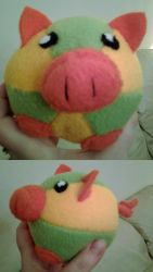 Round Pig Plushie by PandaCat-Productions
