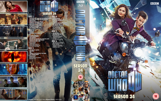 Doctor Who: Season 34 BD Cover 33mm DVD Case by Wario64I
