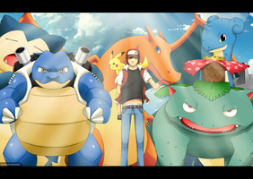 Pokemon Trainer Red by feernoob