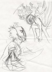 Mask Ichigo VS. 4 tail Naruto by TANKx777