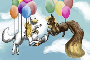 Balloons and smiles by Liviatar