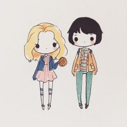 Stranger Things: Eleven and Mike by mochatchi
