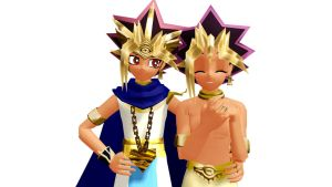 MMD Yu-Gi-Oh- Heba and Atem UPDATE by YugixYamiLove4ever