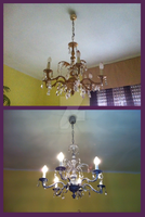 Roccoco Lamp Before and After by Ishtar-Creations