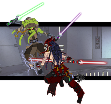 Jedi vs Sith by DaGreatVincE
