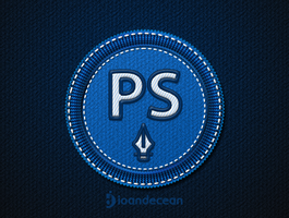 photoshop badge - free psd by nelutuinfo