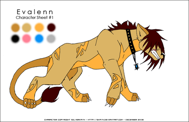 Evalenn - Character Sheet 1 by SKayn