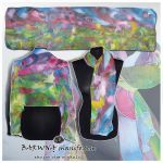 Silk scarf SPRING HORSES - hand painted by MinkuLul