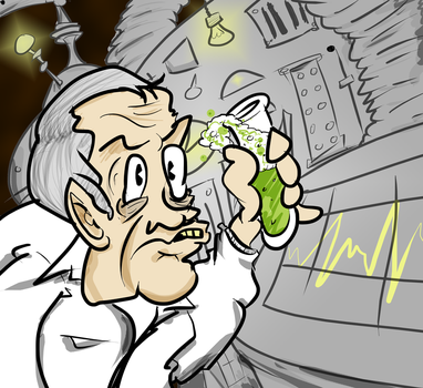 Nixon: Mad Scientist by apathyzeal