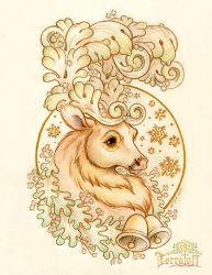Marley the Filigree Stag Holiday Design by HeatherHitchman