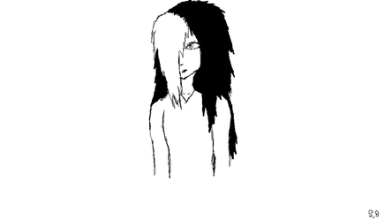 black and white Jane I made on mspaint by Shotgungamer8