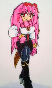 Sky, The Pirate Queen (Colour) by Sky-The-Echidna