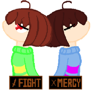 Chara and Frisk by SweetStar990