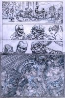 SanEspina JupiterLegacy Page1 pencils by santiagocomics