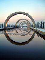 Falkirk Wheel Aquaduct by alloria-sjg