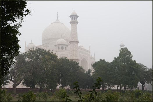 Foggy Taj in January by IgorLaptev