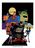 Batman/Superman (Tribute to Bruce Timm) - color by EttoBascianoWorks