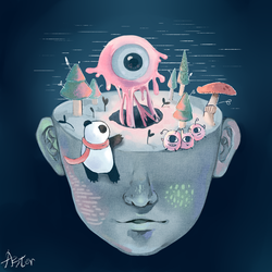 World of the brain by AsterKuo