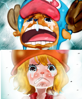 One Piece Chapter 879 Chopper Nami Carrot Cry Sad by Amanomoon