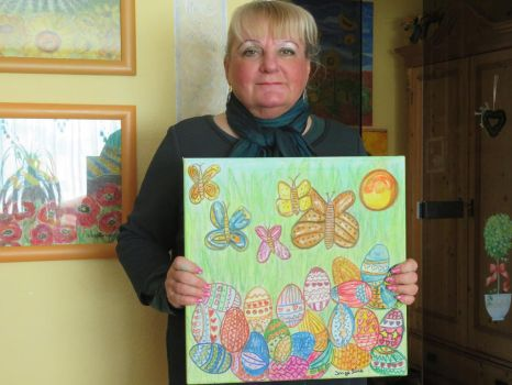 Ingeline and her easter painting by ingeline-art