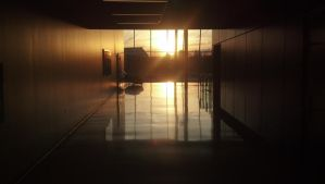 Sunset in the Wolfe Center by supersysscvi