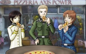 APH: Axis Power eating pizza by Lord-Evell