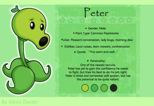 Peter - Ref Sheet by Sparkle-And-Sunshine