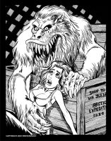 Creepshow: The Crate - BandW by BryanBaugh