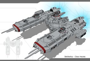 UTF- Battleship - Class Hecate by Lock-Mar
