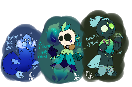 FEATHER KIDDOS [CLOSED] by Mello-Smitty