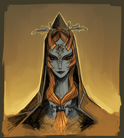 Legend of Zelda: Midna sketch by Atenovx