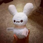 Snow Bunny Plushie by Love-Who