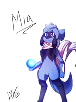 Mia the Riolu by Deathxael