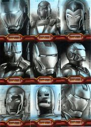 Iron Man 2 Sketch Cards by RandySiplon
